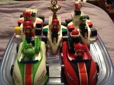 Mario Kart Wii Knex HUGE LOT Luigi yoshi 5 cars 6 people tons of parts and acces