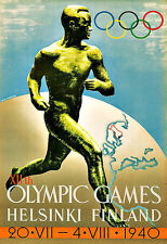 Art Ad 1940  XII Olympic Games  Helsinki Finland Deco   Poster Print