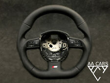 Steering Wheel AUDI A4 B7 S4  A4 B8 S6 Flat Bottom extra THICK NEW LEATHER