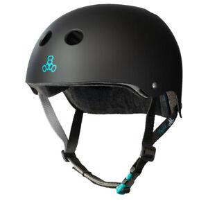 Triple 8 Sweatsaver Adjustable Certified Tony Hawk Skate Helmet - Black