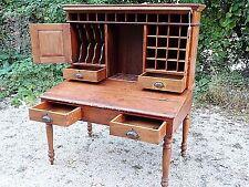 Primitive Country Antique Cartographer Map Maker Printer's drafting desk cabinet