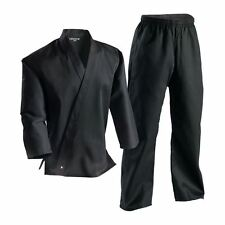 Black Complete Student Martial Arts Uniform - Great for Taekwondo & Karate