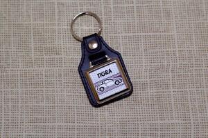Vauxhall / Opel Tigra Keyring - Leatherette and Chrome Keytag
