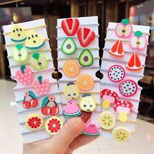 Kids Children Flower Fruits Scrunchie Hair Ropes Set Ponytail Holder Hair Rings