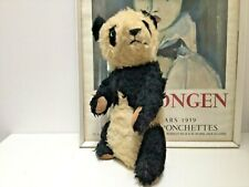 More details for gorgeous antique toy vintage merrythought panda teddy bear-c.1938-1939-f p& p