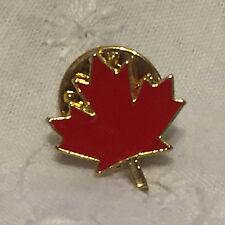 Vintage Canadian Maple Leaf Lapel Pinback Pin