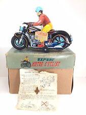 1950's Masudaya (MT) EXPERT ATOM TRICK MOTOR CYCLIST w/Box & Instructions, Tag