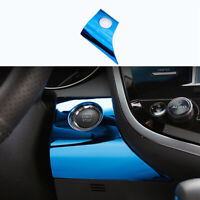 Blue Titanium Ignition Switch Start Button Panel Trim For Toyota Camry 2018-2021