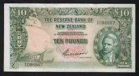 NEW ZEALAND P-161b. (1955) 10 Pounds - Wilson.  Prefix 5/F..   gEF