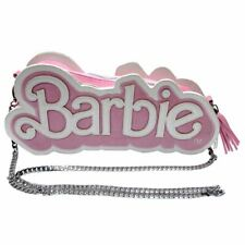 Barbie Logo Pink Pearl Cross-Body Handbag Shoulder Bag - Clutch Chain Retro