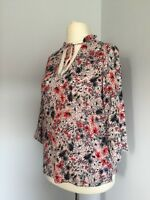 Pretty M & S Collection Pink Mix Floral Print Tunic Top Sz 12- New without tags