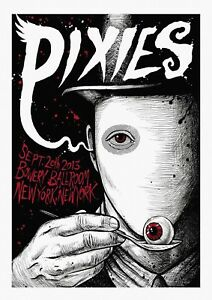"""Reproduction Pixies Poster, """"Bowery Ballroom"""", Indie, Home Wall Art"""