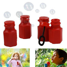 New Dazzling Toys Mini Hexagon Red Bubble Bottles Pack of 12 Party Bubble Bottle