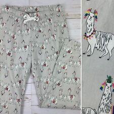 Old Navy Womens XS Lounge Pants Pajamas Llamas Gray Casual