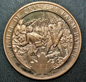 1813 Battle of Crysler's Farm: 1972 History of Canada Proof Bonze Medal