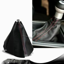 JDM Red Stitch Black PVC Leather Shifter Shift Gear Knob Boot Cover For Acura
