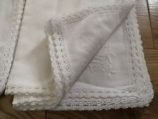 More details for 8 napkins vintage white embroidery crochet cutwork napkins free postage