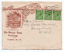 1923 Advertising Envelope -Plantagenet Inn The old Greoge Hotel Salisbury Wilts