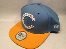 "New Era Crooks and Castles Chain ""C"" Snapback Blue & Yellow 9FIFTY Cap Hat $35"