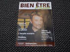 """Johnny Hallyday """"Bien être et Santé"""" n°205 - Octobre 2003"""
