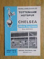 Tottenham Hotspur v Chelsea 1968/69 programme