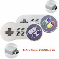 2.4G USB Wireless Controller Gamepad For Super Nintendo NES SNES Classic Mini IR