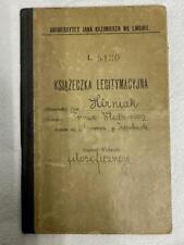 Vintage 1923 Polish Passport ID Book Ksiazeczka Legitymacyjna