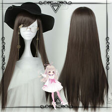 Japanese Harajuku Gothic Lolita Brown straight hair Cosplay Daily Princess Wig #