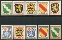 GERMANY ALLIED ZONE  SCOTT#4N1/10 IMPERFORATED  MINT NEVER HINGED EURO 200