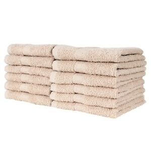 12 Pack of Bathroom Washcloths - 100% Ring-Spun Cotton - 12 x 12 - Color Options