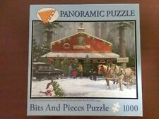 """Puzzle Bits and Pieces 1000pc Holiday Traditions Christmas pre-owned ~13 x ~19"""""""