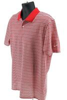 Nike Dr-FIT Victory Golf Polo Shirt Red Striped BV0367-657 $55 Men's Size Large