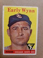1958 Topps #100 Early Wynn VG-VGEX Baseball Card HOF Chicago White Sox MLB