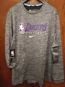 Nike NBA Los Angeles Lakers Team Issued Warmup Sweatshirt AV1389-032 2XL NEW