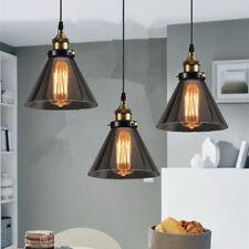 Bar Pendant Light Kitchen Pendant Lighting Grey Glass Lamp Modern Ceiling Lights