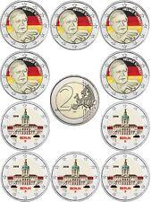 Germania 2 EUR 2018 Schmidt & Charlottenburg 10 monete Set MZZ a-J COLORE IN