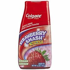 Colgate Fluoride Toothpaste STRAWBERRY SMASH Liquid Gel 4.60 oz (130g) Exp: 1/22