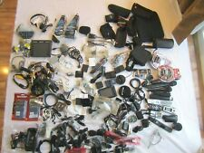 Mixed Lot of Electronics microphones, carrying cases & more. over 140 items