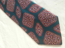 Mens Teal Red White Tie Necktie HABAND  (7299)