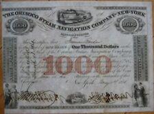 1851 $1000 Bond Certificate: 'Orinoco Steam Navigation Company of New York'