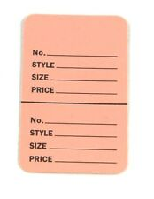"""100 BABY PINK 2.75""""x1.75"""" Large Perforated Unstrung Price Consignment Stor Tags"""