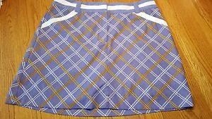 Nike Golf Nike Fit Dry Womens 12 Skort Purple Gold Plaid Skirt tennis sports