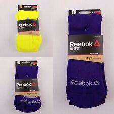 Reebok All Sport Men Socks Moisture Wicking Purple or Neon Various Sizes New