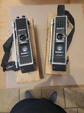 Rare Vintage Sony Walkie Talkie Icb-1000W Pair Made In Japan, Original Box