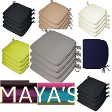 Luxury Removable Tie On Chair Seat Cushions Pads Garden Dining Kitchen
