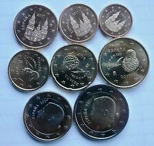 manueduc   ESPAÑA 2017  REY  FELIPE VI  Las  8 Monedas  Nuevas