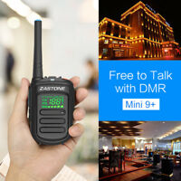 Zastone Mini9+ DMR Digital Radio UHF 400-470MHz 128CH Portable Ham Walkie Talkie