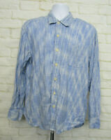 Tommy Bahama Mens Long Sleeve Button Down Shirt Relax Stripes Linen Size Large