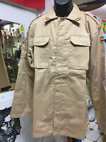 ARMY STYLE JACKET WITH PATCH POCKETS PLAIN BACK REGGAE RASTA ROOTS SAND COLOUR