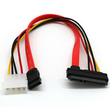 SATA Combo 15 Pin IDE Power and 7 Pin Data Cable 4 Pin to Serial ATA Lead